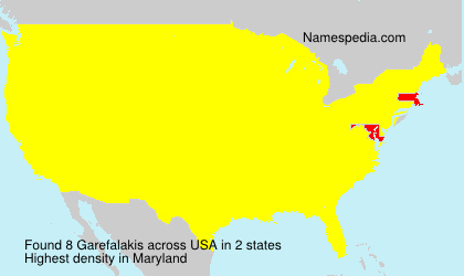 Surname Garefalakis in USA
