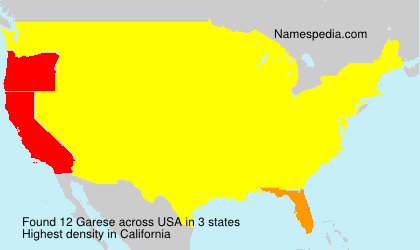 Surname Garese in USA