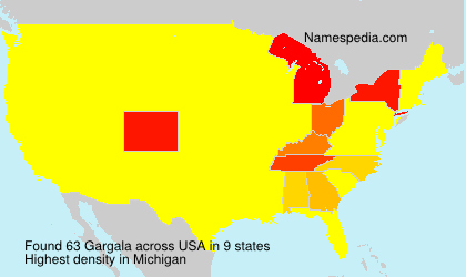 Surname Gargala in USA