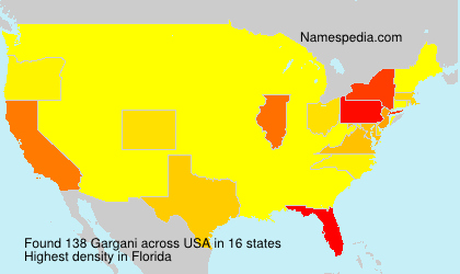 Surname Gargani in USA