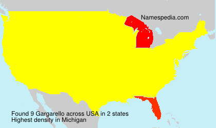 Surname Gargarello in USA