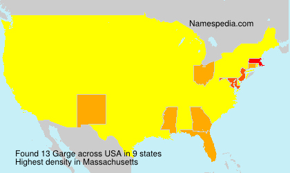 Surname Garge in USA