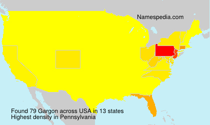 Surname Gargon in USA
