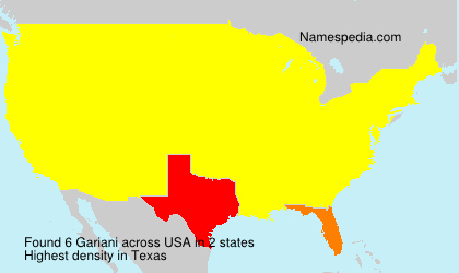 Surname Gariani in USA