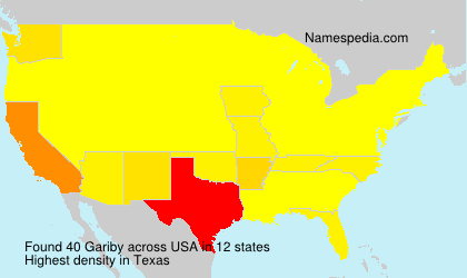 Surname Gariby in USA