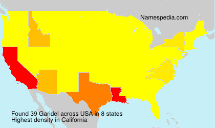 Surname Garidel in USA