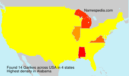Surname Garikes in USA