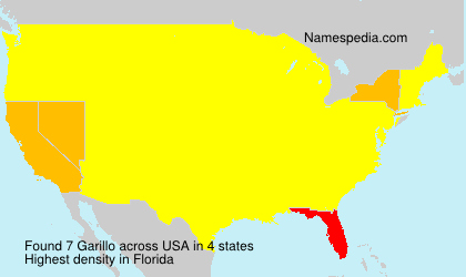 Surname Garillo in USA