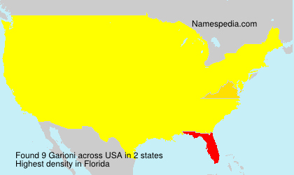 Surname Garioni in USA