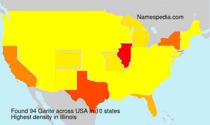 Surname Garite in USA