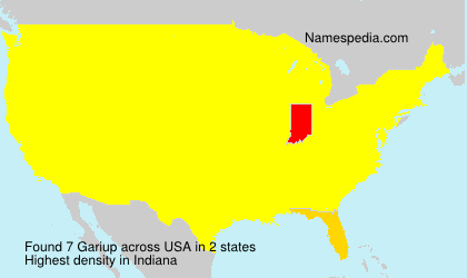 Surname Gariup in USA
