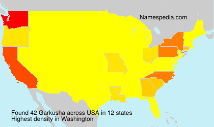 Surname Garkusha in USA