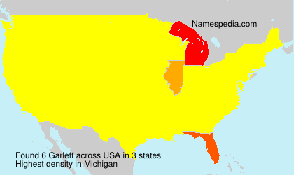 Surname Garleff in USA