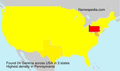 Surname Garlena in USA