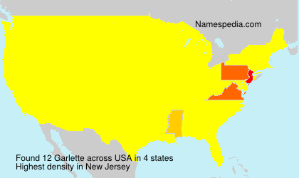 Surname Garlette in USA