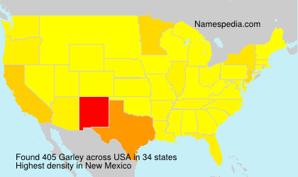Surname Garley in USA