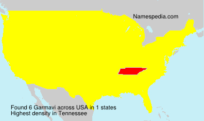 Surname Garmavi in USA