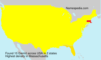 Surname Garmil in USA