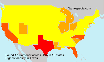 Surname Garndner in USA