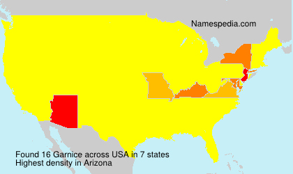 Surname Garnice in USA