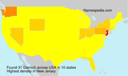 Surname Garnich in USA