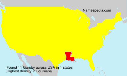 Surname Garoby in USA