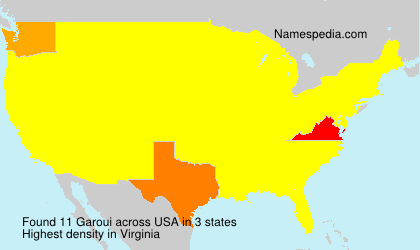 Surname Garoui in USA