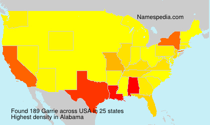 Surname Garrie in USA