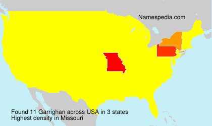 Surname Garrighan in USA