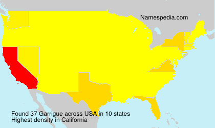 Surname Garrigue in USA