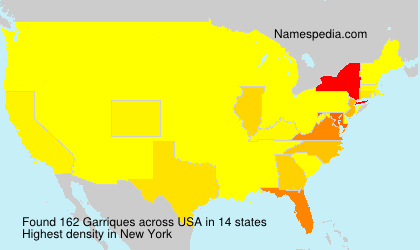 Surname Garriques in USA