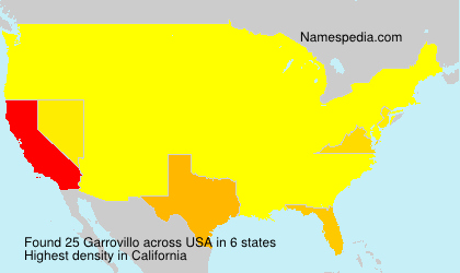 Surname Garrovillo in USA