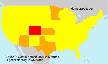 Surname Garsio in USA