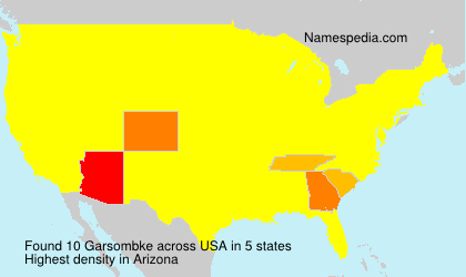 Surname Garsombke in USA