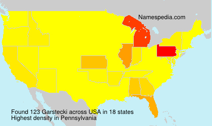 Surname Garstecki in USA