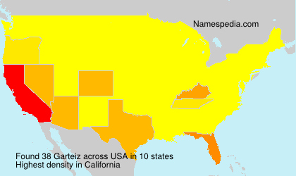 Surname Garteiz in USA