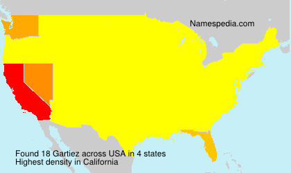 Surname Gartiez in USA