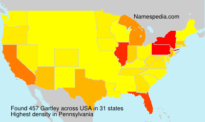 Surname Gartley in USA