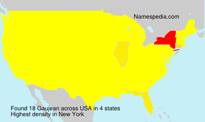 Surname Gaujean in USA