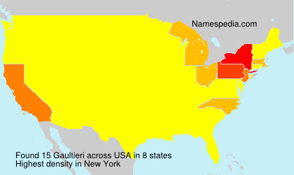 Surname Gaultieri in USA