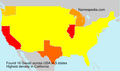 Surname Gavali in USA