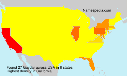 Surname Gaydar in USA