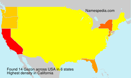 Surname Gazon in USA