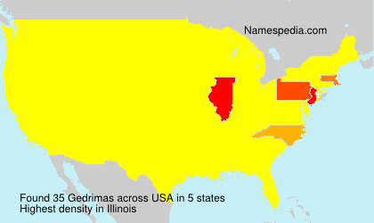 Surname Gedrimas in USA