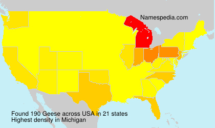 Surname Geese in USA