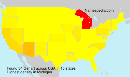 Surname Gehart in USA