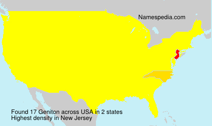 Surname Geniton in USA