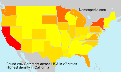 Surname Gerbracht in USA