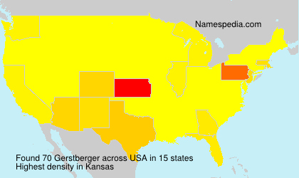 Surname Gerstberger in USA