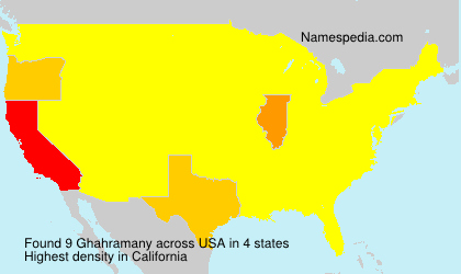 Surname Ghahramany in USA